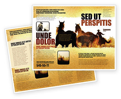 America: Life On Ranch Brochure Template #06046