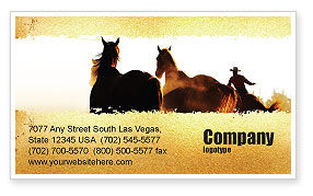 America: Life On Ranch Business Card Template #06046