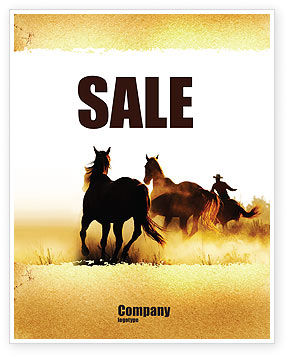 Life On Ranch Sale Poster Template, 06046, America — PoweredTemplate.com