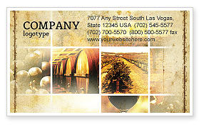 Winegrowing Business Card Template, 06049, Agriculture and Animals — PoweredTemplate.com