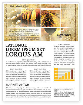 Winegrowing Newsletter Template, 06049, Agriculture and Animals — PoweredTemplate.com