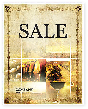 Agriculture and Animals: Winegrowing Sale Poster Template #06049