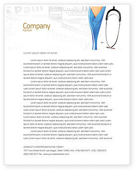 Medical: Physician Letterhead Template #06055