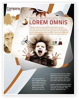 Education & Training: Kinderen En Wetenschap Flyer Template #06059