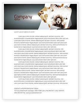 Kids and Science Letterhead Template, 06059, Education & Training — PoweredTemplate.com