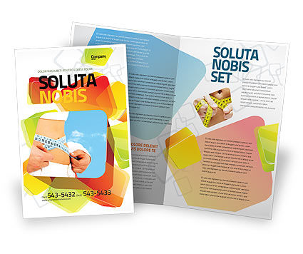 Slimming Brochure Template, 06061, Sports — PoweredTemplate.com
