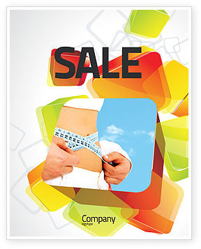 Slimming Sale Poster Template, 06061, Sports — PoweredTemplate.com