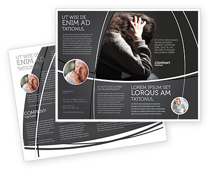 Depression Brochure Template, 06062, Medical — PoweredTemplate.com