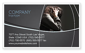 Medical: Depression Business Card Template #06062