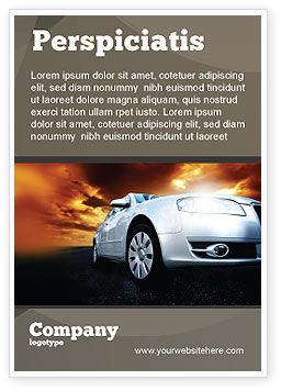 Open Road Ad Template, 06070, Cars/Transportation — PoweredTemplate.com