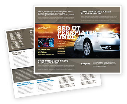 Open Road Brochure Template, 06070, Cars/Transportation — PoweredTemplate.com