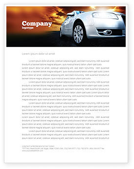 Cars/Transportation: Open Road Letterhead Template #06070