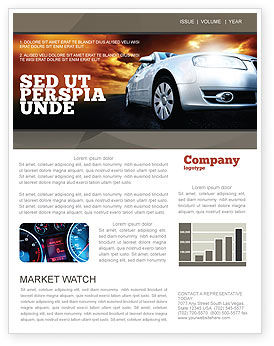 Cars/Transportation: Open Road Newsletter Template #06070