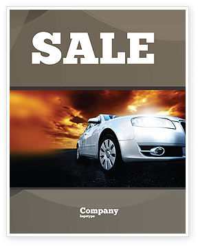 Open Road Sale Poster Template, 06070, Cars/Transportation — PoweredTemplate.com