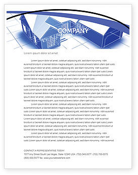 House Plan Letterhead Template, 06085, Construction — PoweredTemplate.com