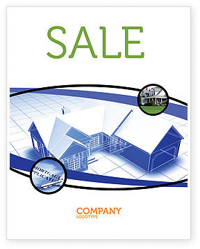 Construction: House Plan Sale Poster Template #06085