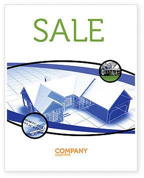 House Plan Sale Poster Template, 06085, Construction — PoweredTemplate.com