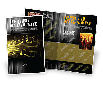 Music Stave Brochure Template Design And Layout Download Now