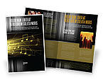 Art & Entertainment: Music Stave Brochure Template #06089