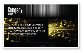 Art & Entertainment: Music Stave Business Card Template #06089