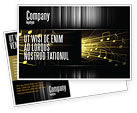 Art & Entertainment: Music Stave Postcard Template #06089