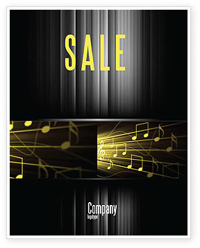 Music Stave Sale Poster Template, 06089, Art & Entertainment — PoweredTemplate.com