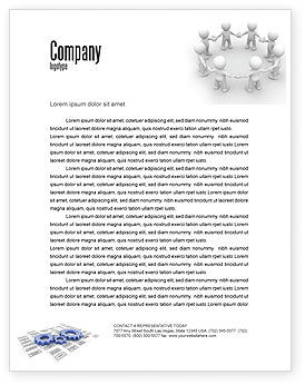 3D: Togetherness Letterhead Template #06092