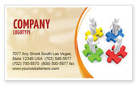 Working Relationship Business Card Template, 06096, Business Concepts — PoweredTemplate.com