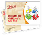 Business Concepts: Working Relationship Postcard Template #06096