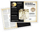 Education & Training: Vitruvian Man By Leonardo da Vinci Brochure Template #06107