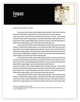 Vitruvian Man By Leonardo da Vinci Letterhead Template, 06107, Education & Training — PoweredTemplate.com