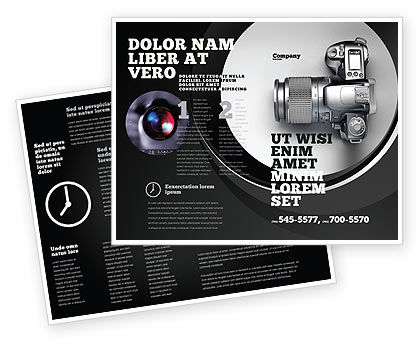 Digital photo camera brochure template design and layout for Electronic brochure templates