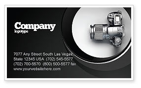 Careers/Industry: Digital Photo Camera Business Card Template #06121