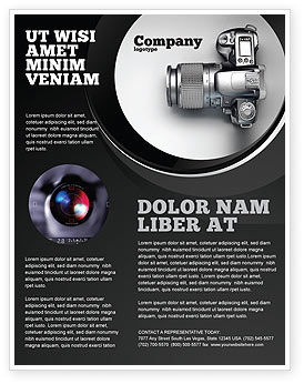 Digital Photo Camera Flyer Template, 06121, Careers/Industry — PoweredTemplate.com