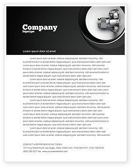 Careers/Industry: Digital Photo Camera Letterhead Template #06121