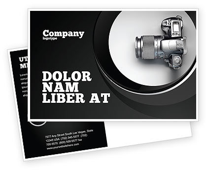 Careers/Industry: Digital Photo Camera Postcard Template #06121