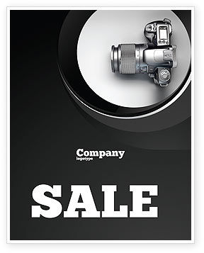 Digital Photo Camera Sale Poster Template, 06121, Careers/Industry — PoweredTemplate.com