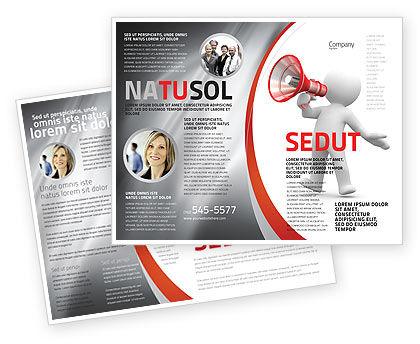 Public Speaker Brochure Template, 06124, Careers/Industry — PoweredTemplate.com