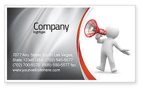 Careers/Industry: Openbare Spreker Visitekaartje Template #06124