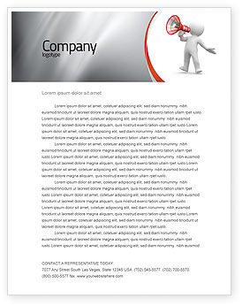 Public Speaker Letterhead Template, 06124, Careers/Industry — PoweredTemplate.com
