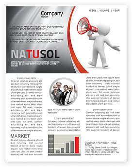 Public Speaker Newsletter Template, 06124, Careers/Industry — PoweredTemplate.com