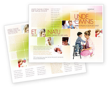 Paediatrics Brochure Template, 06125, Medical — PoweredTemplate.com