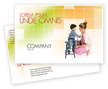 Paediatrics Postcard Template, 06125, Medical — PoweredTemplate.com
