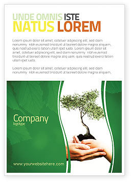 Growth Ad Template, 06130, Nature & Environment — PoweredTemplate.com