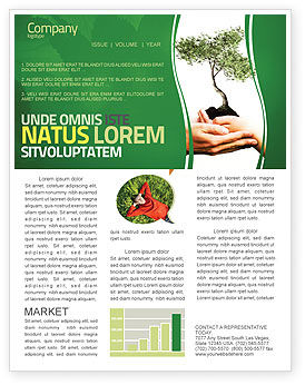 Growth Newsletter Template, 06130, Nature & Environment — PoweredTemplate.com