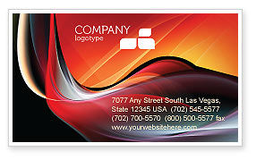 Abstract/Textures: Abstract Red Wave Business Card Template #06158