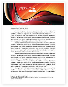 Abstract/Textures: Abstract Red Wave Letterhead Template #06158