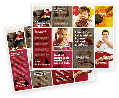 Sweet Snacks Brochure Template, 06170, Medical — PoweredTemplate.com