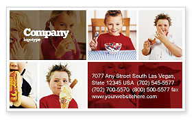 Medical: Sweet Snacks Business Card Template #06170