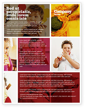 Medical: Sweet Snacks Flyer Template #06170
